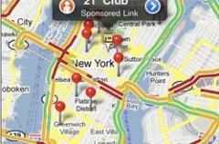 Publicidad en Google Maps del iPhone