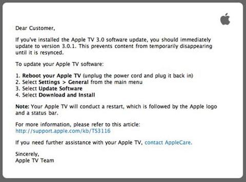 Apple TV Mail
