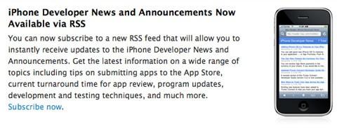 Feed RSS de Apple