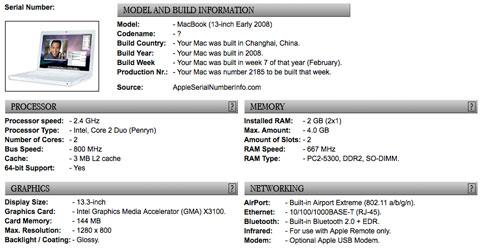 MacBook Info