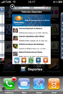 ProSwitcher Beta, interfaz multitarea como en el Palm Pre