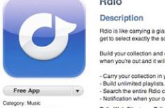 Rdio ofrece transmisión de música sin restricción en el iPhone