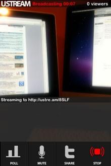 Disponible Ustream Live Broadcaster para el iPhone