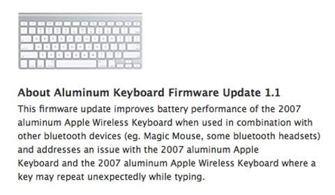 Actualizacion de firmware teclado inalámbrico