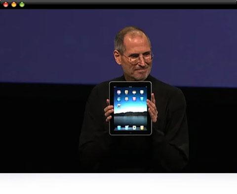 Steve Jobs con el iPad