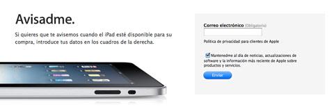 Aviso iPad