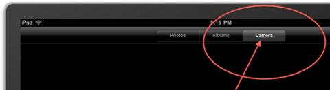 Aparece un botón de cámara en el último simulador del iPad