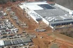 Obras del complejo de servidores de Apple en Carolina del Norte