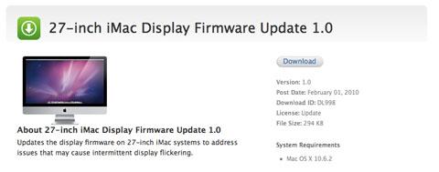 Actualización de firmware pantalla iMac 27
