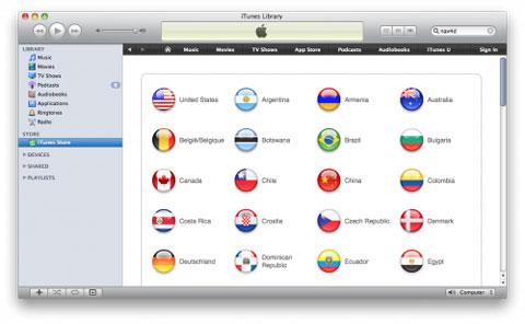 iTunes Paises