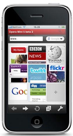Opera para el iPhone