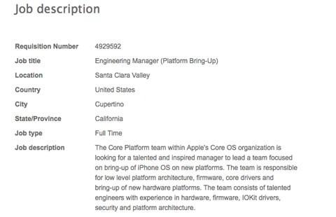 Oferta de trabajo Apple