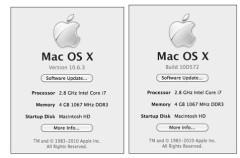 Un usuario de Snow Leopard recibe una pre-actualización de la versión 10.6.3