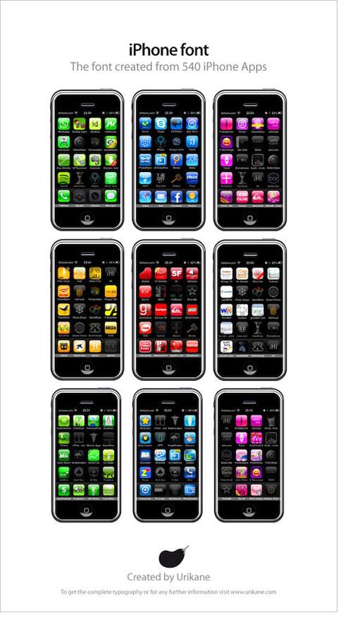 Tipografía iPhone 2