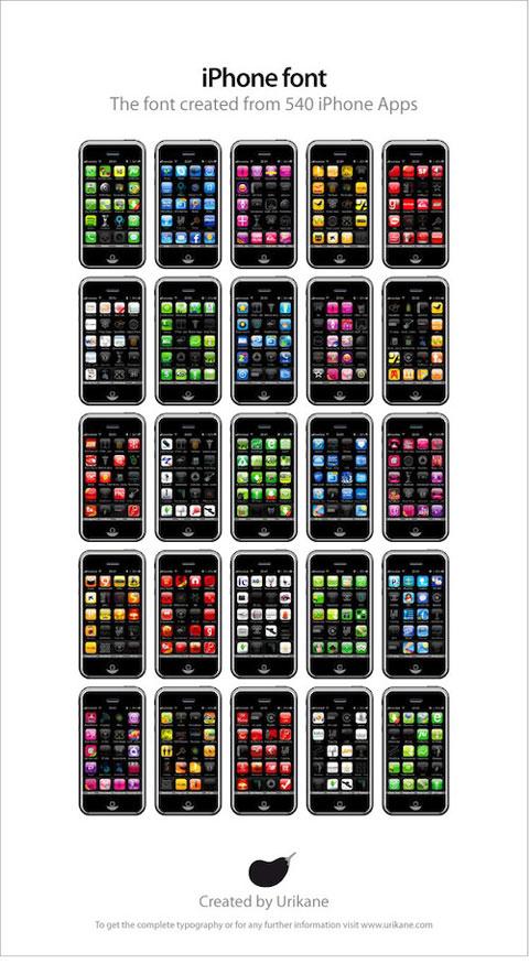 Tipografía iPhone 3