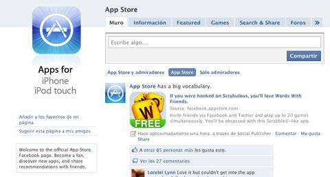 AppStore en FaceBook