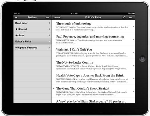 Instanpaper iPad