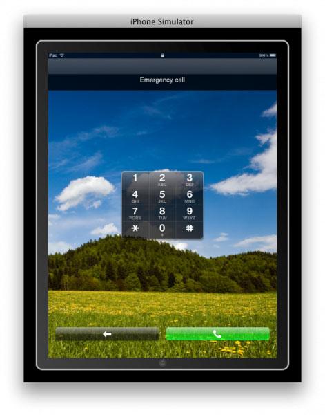 iPad Llamada de emergencia