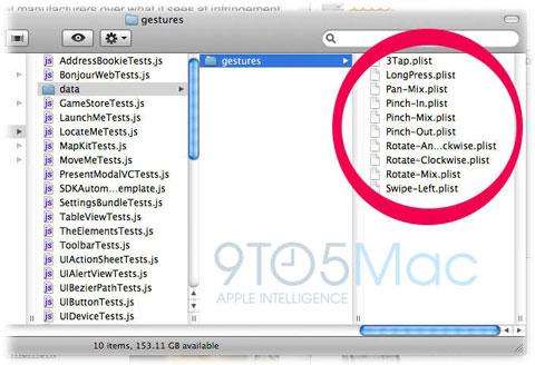 Nuevos gestos en el iPhone OS