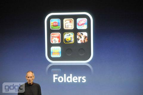 iPhone OS 4.0 Folders