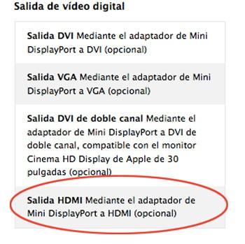 HDMI en MacBook Pro