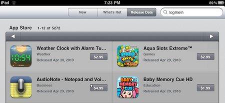 La App Store del iPad ya ordena apps por fecha de lanzamiento