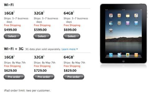 iPad el 7 de mayo