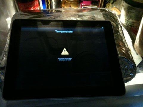 Temperatura del iPad