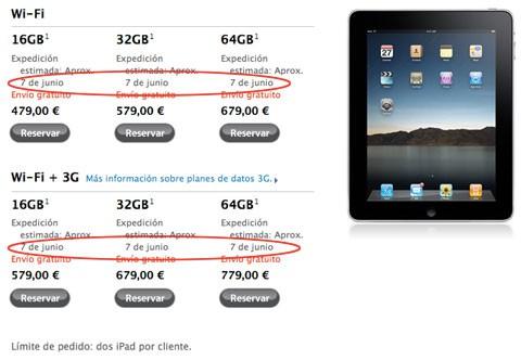 iPad 7 de junio