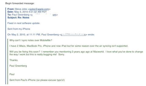 Steve Jobs notas