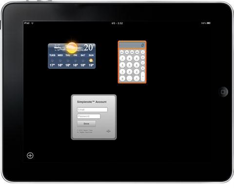 Dashboard iPad