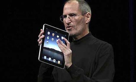 iPad con Steve Jobs