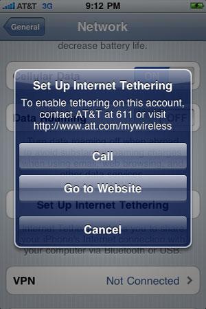 iPhone OS 4 podría traer el tethering para los usuarios de AT&T