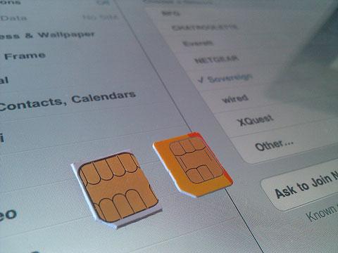 Adapta tu tarjeta SIM al iPad