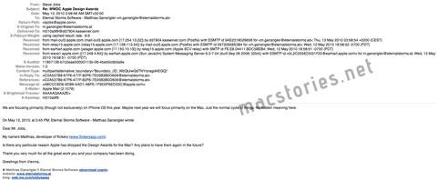 Mail de Steve Jobs