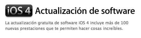 iOS 4 gratis para el iPod Touch