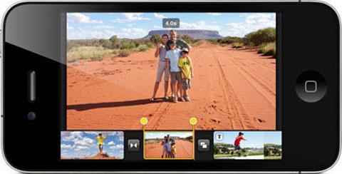 iMovie en el iPhone 4