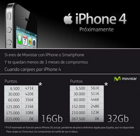 Precios iPhone4 Movistar