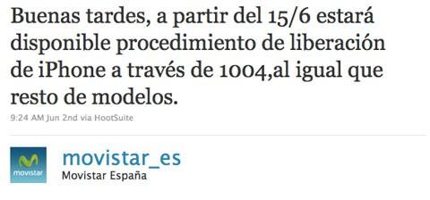 Movistar anuncia procedimiento de liberación de iPhone
