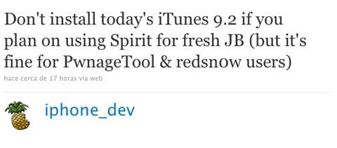 No Spirit en iTunes 9.2