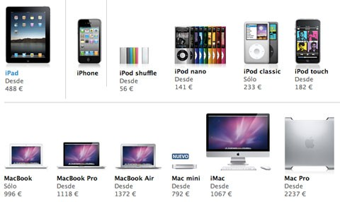 Subida de IVA en la Apple Store Online