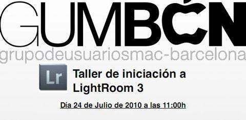 Taller Lightroom Barcelona