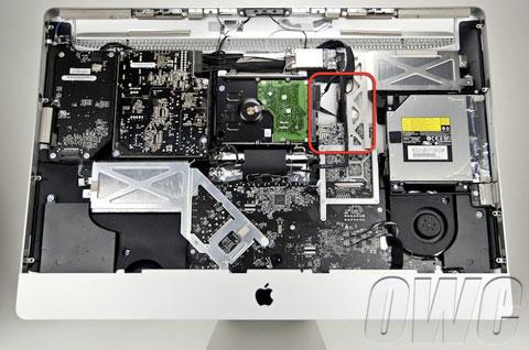 Espacio para SSD en iMac late 2010