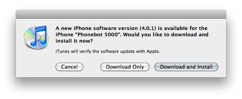 Ya está disponible el iOS 4.0.1 para el iPhone 4, 3GS y 3G
