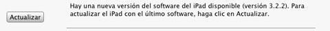 Actualización iPad 3.2.2