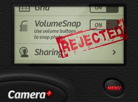 Camera+ rechazada AppStore