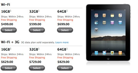 Entregas iPad