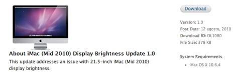 Actualización de pantalla del iMac de 21,5 pulgadas