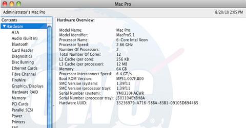Mac Pro con 64GB de RAM