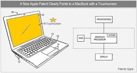 MacBook con pantalla táctil